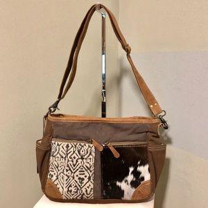 Handbags - Myra Bag Two Tone -Two Design Messenger Purse NWT
